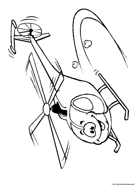 printable smiley face flyer helicopter coloring pagesfree