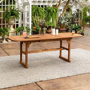 Walker, Edison, Furniture, Company, Boardwalk, Brown, Acacia, Wood, Extendable, Outdoor, Dining, Table