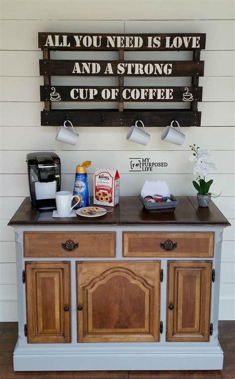 Coffee Bar Furniture by Coffee Station Repurposed Buffet Buffet Coffee And Bar