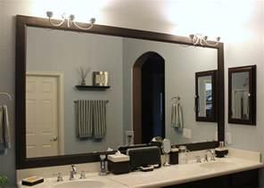 large black framed mirror for bathroom and vanities