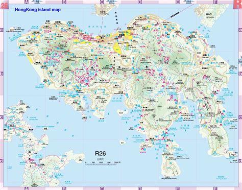 large hong kong city maps     print