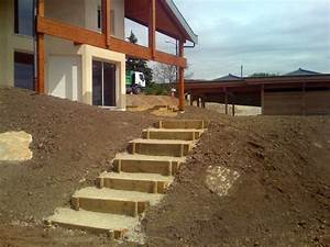 gojon tp haute savoie 74 enrochement dallage pavage With faire un escalier exterieur en beton