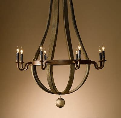 constance curtis events wine barrel chandelier from