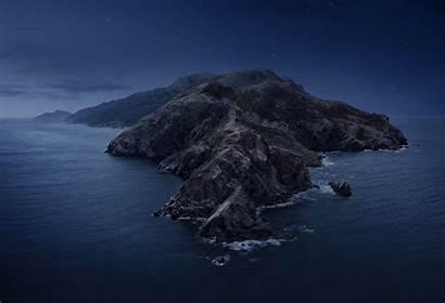 Catalina Macos Wallpapers Dark Island Mode Mac