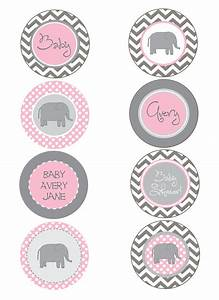 pink and grey baby shower   Elephant Pink and Gray Chevron ...