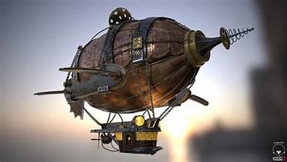 Steampunk Airship Artstation Ship Adrian Artwork Air