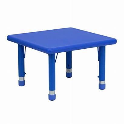 Tbl Square Activity Adjustable Furniture Plastic Flash