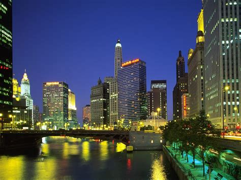 chicago downtown buildings illinois wallpapers backgrounds cities attractions tourist town il down hd 2009 digital editing night wallpaperweb vacation travel