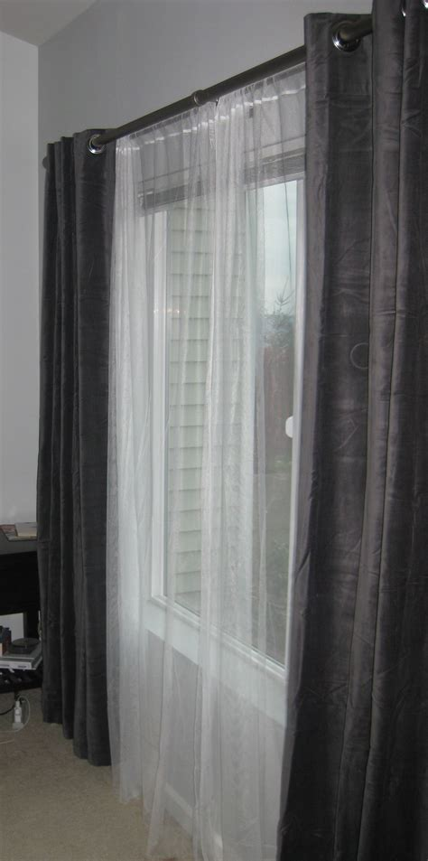 how to hang grommet drapes how to hang grommet curtains with sheers bindu bhatia