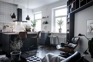 Kleine Räume Geschickt Einrichten : design wohnung mit schwarzen akzenten designs2love ~ Watch28wear.com Haus und Dekorationen