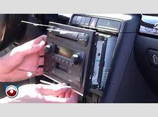 Radio Removal Audi A4 S4 20022006 with Symphony II Radio