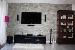 Wohnzimmer Steinwand Grau Ragopigeinfo