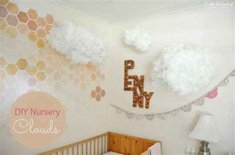 diy nursery clouds for a whimsical effect