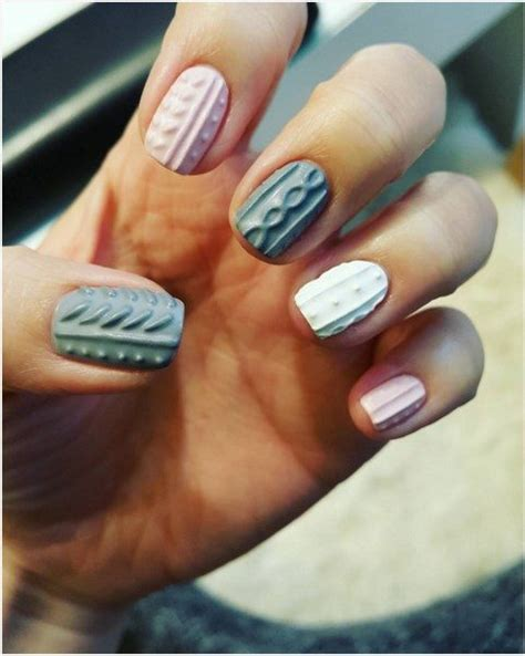 cozy cable knit sweater nail arts    internet