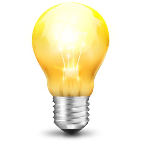 yellow light bulb icon png clipart image iconbug