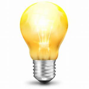 Yellow Light Bulb Icon, PNG ClipArt Image | IconBug.com
