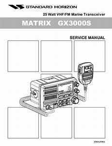 Standard Horizon Matrix Gx3000s Service Manual Pdf Download