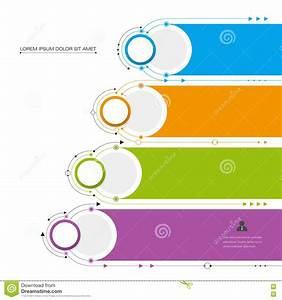 Vector Infographic Template With 3d Paper Label  Integrated Circles Cartoon Vector