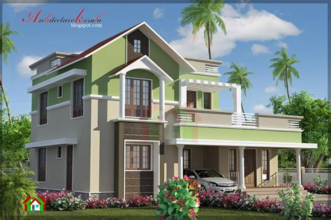 bhk contemporary house elevation architecture kerala