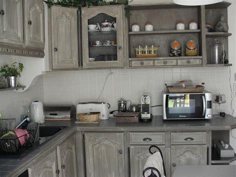 cuisine relookee grise relooker cuisine en bois relooker ses meubles de cuisine