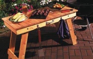 portable grill table plans woodwork city