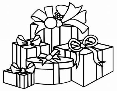 Presents Christmas Present Coloring Pages Colour Printable