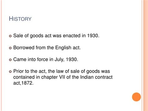 sales  goods act