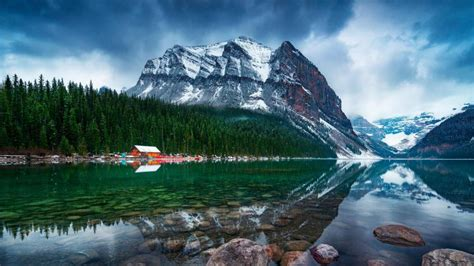 lake louise banff national park hd wallpaper wallpaper
