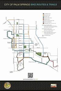 Palm Springs Bike Route Map