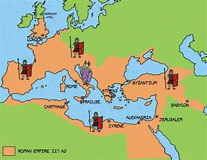 Ancient Rome  Greece Empire Map Labeled