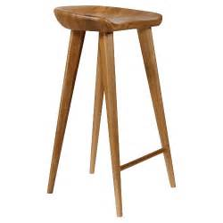 Wooden Bar Stools by Tractor Contemporary Carved Wood Barstool Natural
