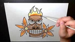 Hawaiian Tiki Mask - Speed Painting Art Timelapse - YouTube