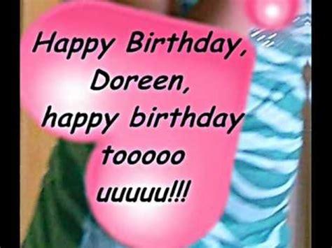 happy birthday doreen youtube