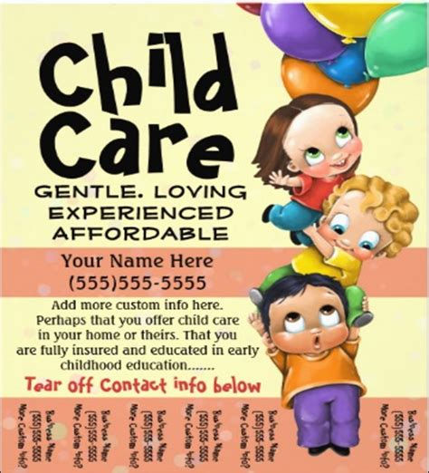 Daycare Flyers Templates Free by Child Care Flyer Template Yourweek 45f669eca25e