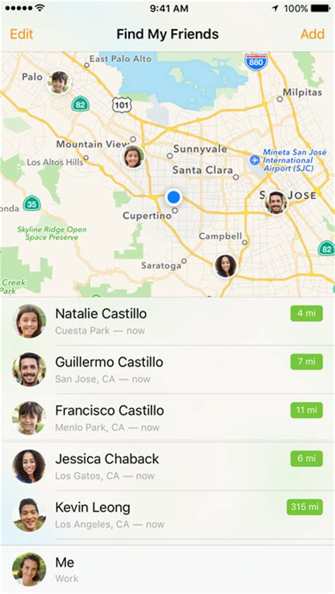 find friends iphone find my friends on the app