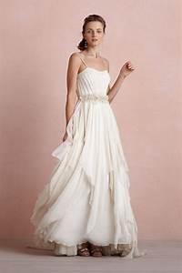 Bhldn catherine deane cascading goddess gown size 4 for Goddess wedding dress