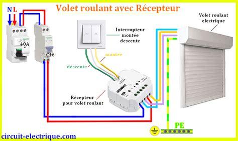 branchement volet roulant electrique circuit electrique