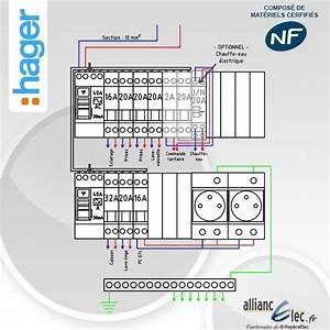 Tableau Electrique Hager 4 Rangées : tableau electrique pr cabl hager jusqu 39 a 35 m2 t1 ~ Edinachiropracticcenter.com Idées de Décoration