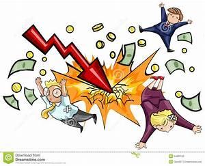 Crash of economic downturn stock vector. Illustration of ...