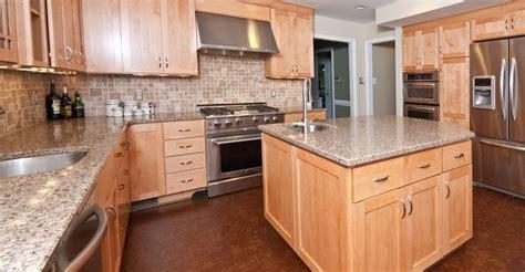 quartz countertops natural wood cabinets google search