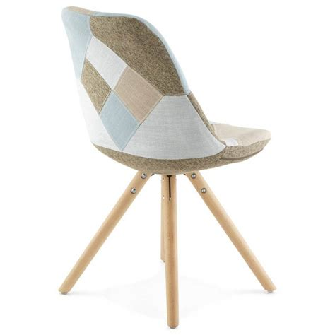 chaise tissus chair patchwork style scandinavian bohemian fabric blue
