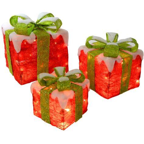festive red  green light  sisal gift boxes