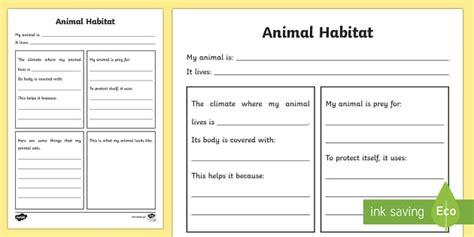 animal habitat worksheet animal habitats habitats worksheet