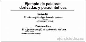 Ejercicios de palabras derivadas y palabras parasintéticas