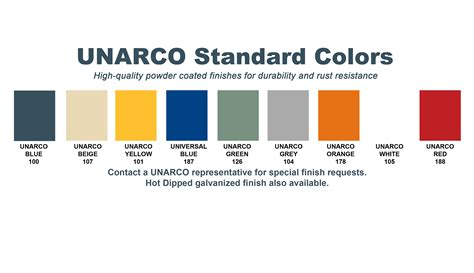 colorcharts unarco pallet rack  warehouse storage systems