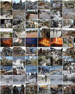 A Collection Of Sample Images Related To Natural Disasters Retrieved