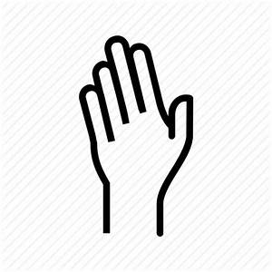 Fingers, hand, raise, raising, wave icon | Icon search engine