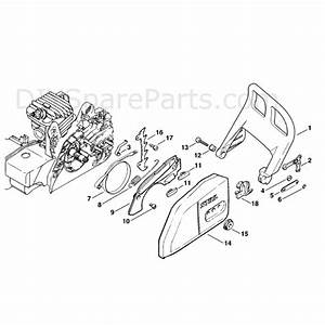 Stihl Ms 250 Chainsaw  Ms250  Parts Diagram  Chain Brake