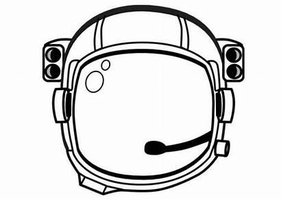 Astronaut Helmet Coloring Space Pages Theme Edupics
