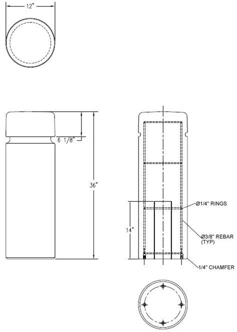Round Concrete Bollard with Reveal Line, Bollards